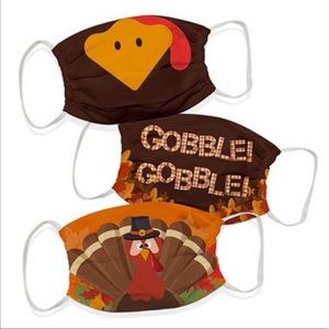 🆕 Thanksgiving Holiday Face Masks 3 Pack . Unisex
